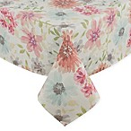 70-Inch Square Colette Floral Tablecloth in Pastel