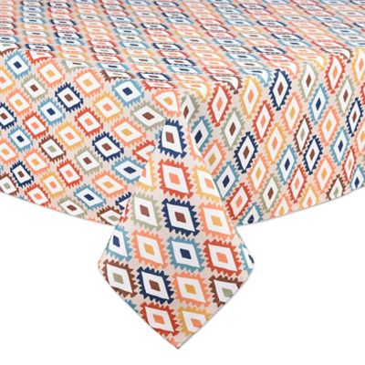 Mesa Diamond 60 Inch X 84 Inch Indoor/Outdoor Oval Tablecloth