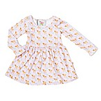 Pickles N' Roses™ Size 0-6M Deer Long Sleeve Knit Day Dress