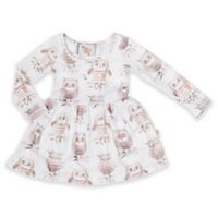 Pickles N' Roses™ Size 0-6M Owl Long Sleeve Knit Day Dress