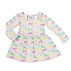 Pickles N' Roses™ Size 6-12M Unicorn Long Sleeve Knit Day Dress