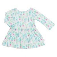 Pickles N' Roses™ Size 0-6M Cactus Long Sleeve Knit Day Dress