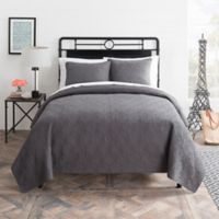 Seedling by ThomasPaul® Aviary Full/Queen Quilt Set in Charcoal