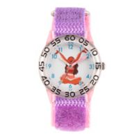 Disney® Moana Children's Time Teacher Watch in Clear Plastic with Purple Nylon Strap
