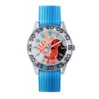 Disney® Moana and Pua Children's Time Teacher Watch in Clear Plastic w/Blue Striped Nylon Strap