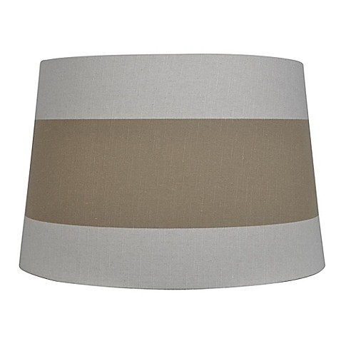 mix match large 15 inch lamp shade in white with brown. Black Bedroom Furniture Sets. Home Design Ideas