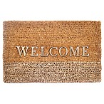 "29-Inch x 18-Inch ""Welcome"" Door Mat in Natural"