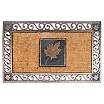 22-Inch x 34-Inch Maple Leaf Coir Door Mat in Copper