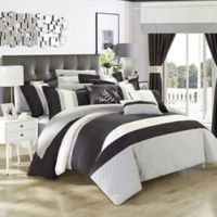 Chic Home Placido 24-Piece Queen Comforter Set in Black