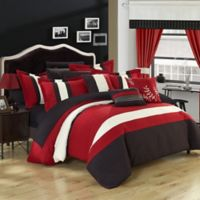 Chic Home Placido 24-Piece King Comforter Set in Red