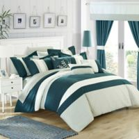 Chic Home Placido 24-Piece Queen Comforter Set in Teal