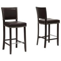 Baxton Studio Aires Barstools in Brown (Set of 2)