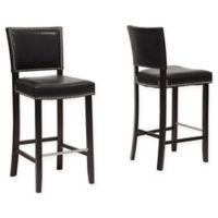 Baxton Studio Aires Barstools in Black (Set of 2)