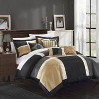 Chic Home Calinda 11-Piece King Comforter Set in Black