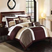 Chic Home Calinda 11-Piece King Comforter Set in Brown