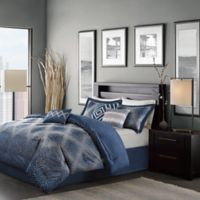 Madison Park Quinn 7-Piece King Comforter Set in Navy
