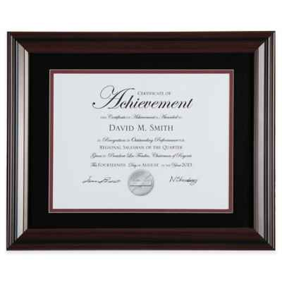 PhotoGuard 2-Tone 8.5-Inch x 11-Inch Document Frame in Black