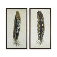 Urban Habitat® Gilded Feathers Printed Canvas Wall Art (Set of 2)