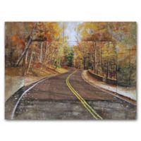 Grander Images Autumn Drive Mixed Media Wall Art