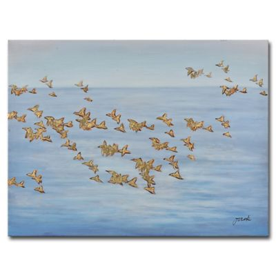 grander images birds of a feather canvas wall art