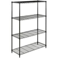 Safavieh Delta 4-Tier Chrome Wire Rack in Black