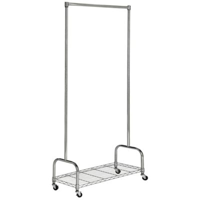 Safavieh Christian Chrome Wire Single Rod Clothes Rack In