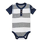 Burt's Bees Baby® Size 6-9M Rugby Stripe Bodysuit in Grey/White