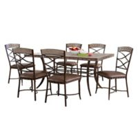 Hillsdale Emmons 7-Piece Rectangle Dining Set in Grey