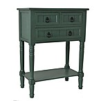 Décor Therapy 3-Drawer Console in Teal