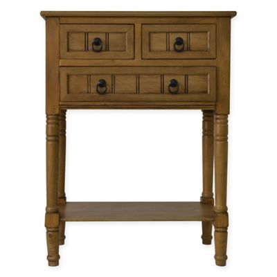 Jimco 3 Drawer Console Table In Honey Pine