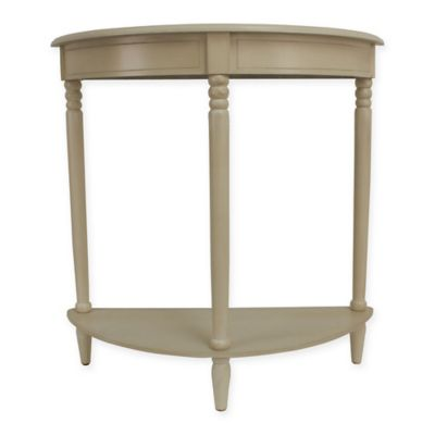 Jimco Half Round Accent Table In White