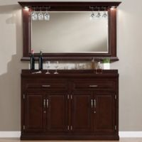 American Herritage Ricardo Slimline Bar Cabinet in Brown