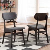 Baxton Studio Debbie Chairs in Brown (Set of 2)