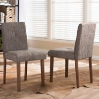 Baxton Studio Elsa Dining Chairs in Gravel (Set of 2)