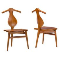 Baxton Studio Granard Dining Chairs in Brown (Set of 2)