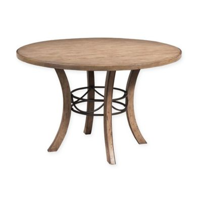 Marvelous Hillsdale Charlestown 48 Inch Round Dining Table In Tan