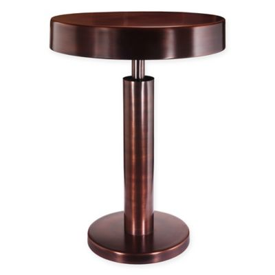Kenroy Home Altair Accent Table In Antique Copper