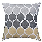 Hollis Square Throw Pillow in Gold/Grey