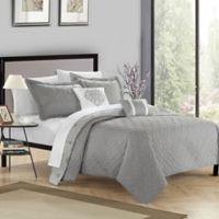Chic Home Xanadu 5-Piece King Quilt Set in Grey