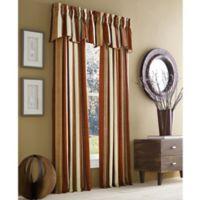 J. Queen New York™ Valdosta Stripe 95-Inch Rod Pocket Window Curtain Panel in Spice