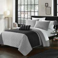 Chic Home Jaxton 4-Piece King Quilt Set in Grey