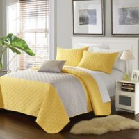 Chic Home Jaxton 4-Piece Queen Quilt Set in Yellow