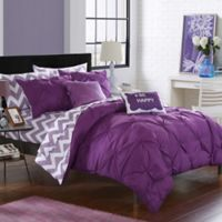 Chic Home Parkerville 9-Piece Full Comforter Set in Purple