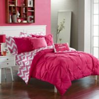 Chic Home Parkerville 9-Piece Full Comforter Set in Fuchsia