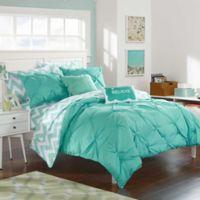 Chic Home Parkerville 7-Piece Twin XL Comforter Set in Aqua