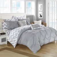 Chic Home Parkerville 7-Piece Twin XL Comforter Set in Grey