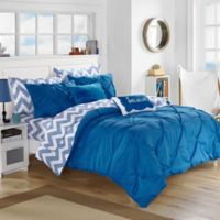 Chic Home Parkerville 7-Piece Twin XL Comforter Set in Blue