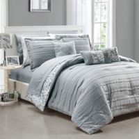 Chic Home Isobelle 10-Piece King Comforter Set in Grey