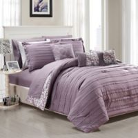 Chic Home Isobelle 10-Piece King Comforter Set in Plum