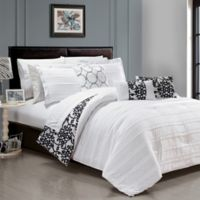 Chic Home Isobelle 10-Piece Queen Comforter Set in White